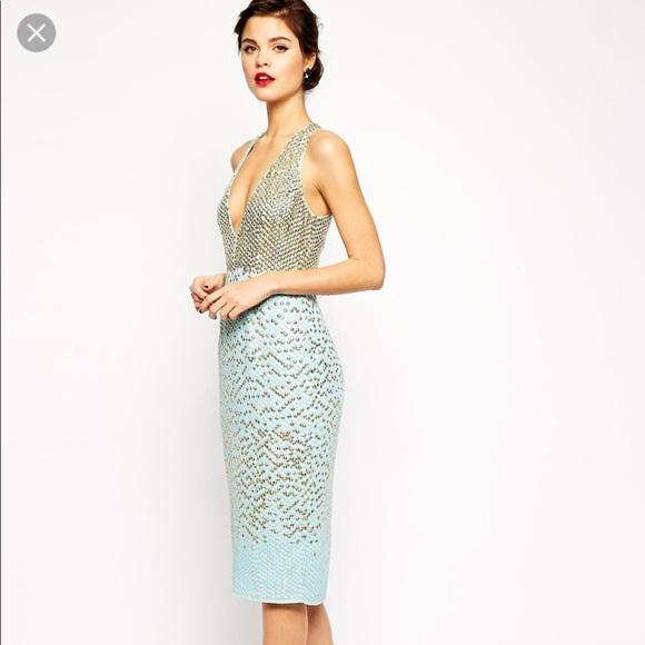 3e708fce255 ASOS Dresses   Skirts - ASOS red carpet embellished sequin dress